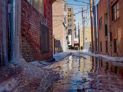 Photograph - Alley Ice Fall by Dutch Bieber