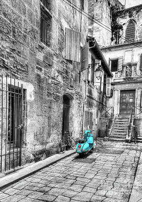 Photograph - Alley In Arles Selective Color by Mel Steinhauer