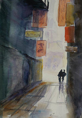 Painting - Alley In Chinatown by Tom Simmons