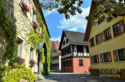 Alley In A Small Town In Germany Art Print