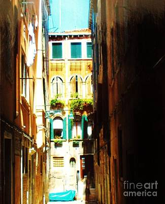 Window Box Painting - Alley In Italy by Marsha Heiken
