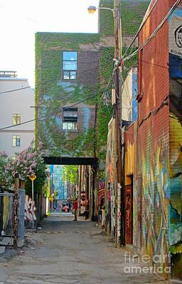 Streetscape Mixed Media - Alley In Toronto by John Malone