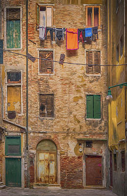 Photograph - Alley In Venice 2_dsc1321_02282017 Photo Painting by Greg Kluempers