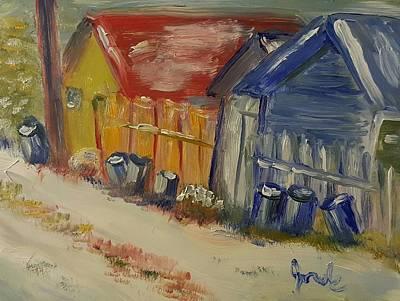 Painting - Alley In Winter  by Steve Jorde
