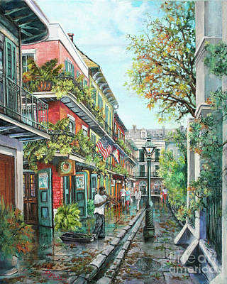 New Orleans Oil Painting - Alley Jazz by Dianne Parks