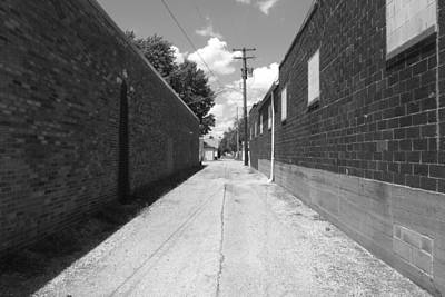 Black And White Photograph - Alley by Jeff Rankin
