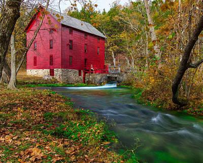 Ozark National Riverways Photograph - Alley Mill 8x10 by Jackie Novak