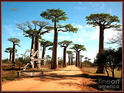 Alley Of Baobabs With Dancing Spirit Original