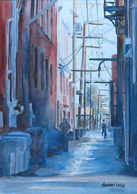 Town Painting - Alley Shortcut by Jenny Armitage