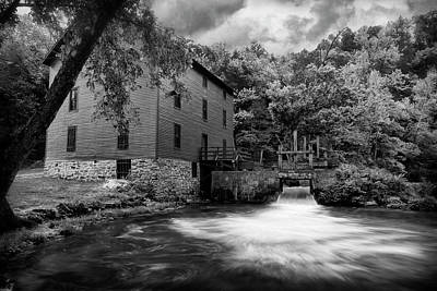 Photograph - Alley Spring And Mill Ozark National Scenic Riverways Bnw Dsc02692 by Greg Kluempers