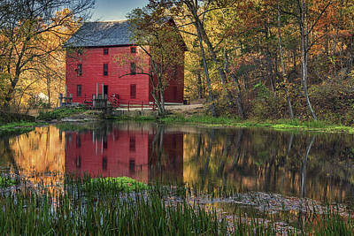 Alley Spring Mill Fall Mo Dsc09240 Art Print