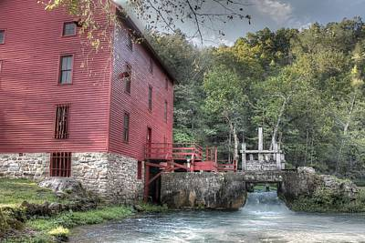 Old Mills Photograph - Alley Spring Mill Ozark National Scenic Riverway by Jane Linders