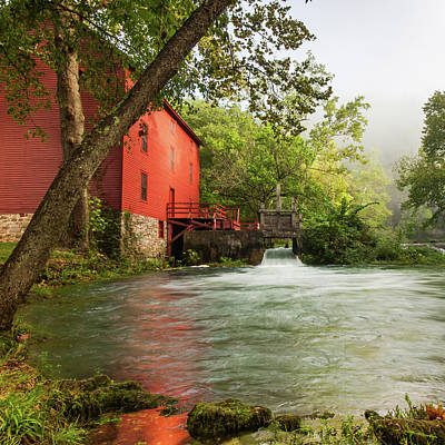 Photograph - Alley Spring Mill - Square Format by Gregory Ballos