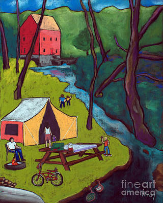 Intuitive Art Painting - Alley Springs by David Hinds