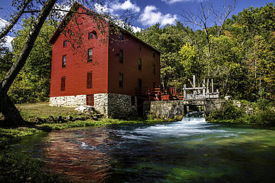 Mill Photograph - Alley Springs Mill 2 by Kevin Whitworth