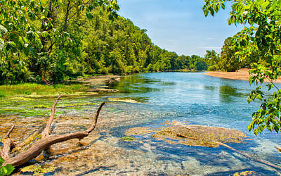 Alley Springs Scenic Bend Art Print by John M Bailey