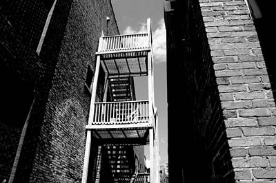 Marquette Photograph - Alley Staircase by Kendall Tabor