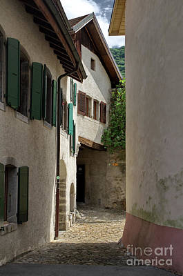 Photograph - alley to the Aigle castle by Michelle Meenawong