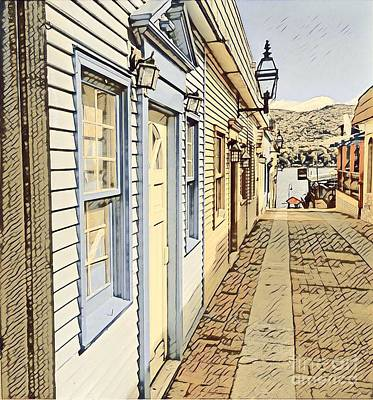 Digital Art - Alley Way In Lake George New York by Edward Sobuta