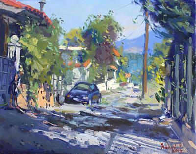 Alleyway By Lida's House Greece Original