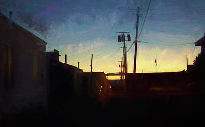 Digital Art - Alleyway Dawn by Aliceann Carlton