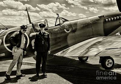 Raf Photograph - Allied Pilots Taking Stock by Paul Ward