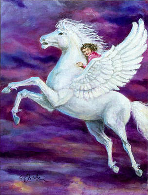 Pegasus Wall Art - Painting - Allie's Dream by Edward Farber