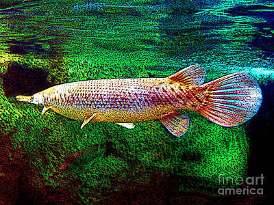 Digital Art - Alligator Gar Fish - Digital Painting by Merton Allen