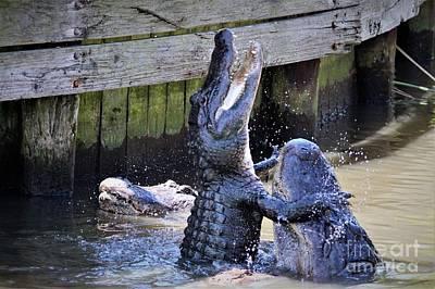Alligator Hugs Art Print by Paulette Thomas
