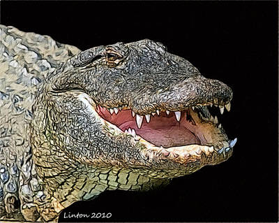 Alligator Digital Art - Alligator by Larry Linton