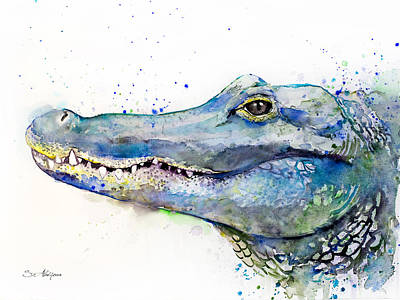 Alligator Painting - Alligator  by Slavi Aladjova