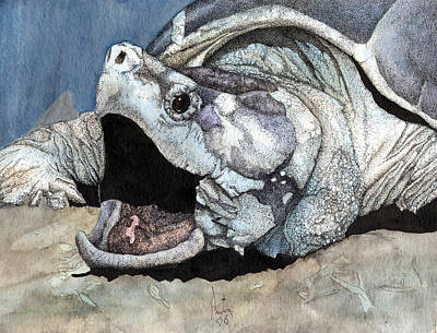 Alligator Snapping Turtle Art Print by Preston Shupp