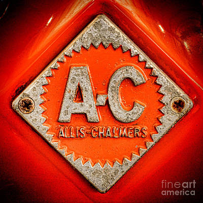 Machinery Photograph - Allis Chalmers Badge by Olivier Le Queinec