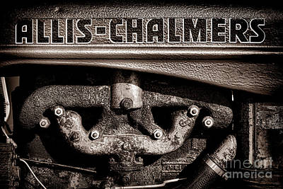Antique Tractors Photograph - Allis Chalmers Grunge by Olivier Le Queinec
