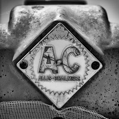 Allis-chalmers Logo - Bw Art Print