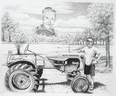 Drawing - Allis Chalmers by Mike Ivey