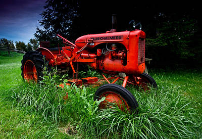 Overgrown Photograph - Allis Chalmers Tractor by Cale Best