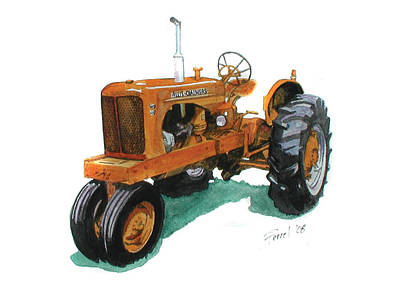 Allis Chalmers Tractor Art Print by Ferrel Cordle