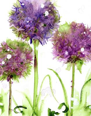Painting - Alliums by Dawn Derman