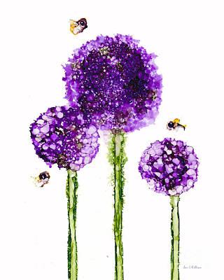 Alliums Humming Art Print