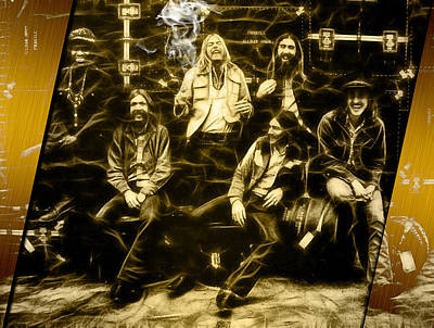 The Allman Brothers Mixed Media - Allman Brothers Collection by Marvin Blaine