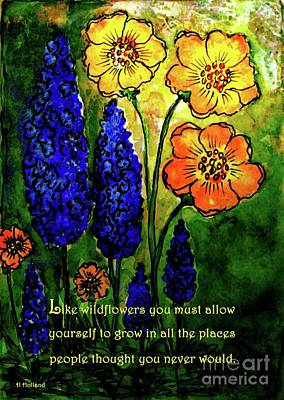 Painting - Allow Yourself To Grow by Hazel Holland