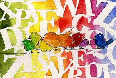 Painting - Allphabirds by Anne Duke