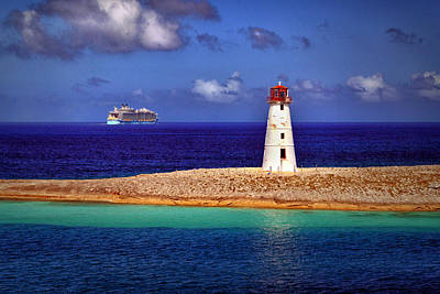 Photograph - Allure Of The Seas At Nassau Light by Bill Swartwout