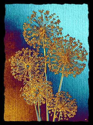 Mixed Media - Alluring Allium Abstract 2 by Will Borden