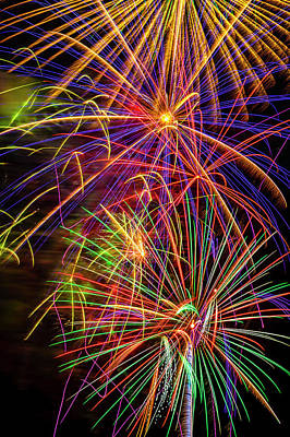 Photograph - Alluring Beautiful Fireworks by Garry Gay