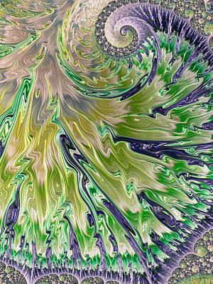 Alluvial Fan As Fractal Art Print by Ronda Broatch