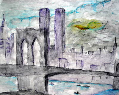 Twin Towers Nyc Painting - Allways Remember 911 by Marx Rehburg