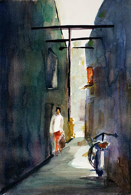 Painting - Alley In Bangkok Chinatown by Tom Simmons
