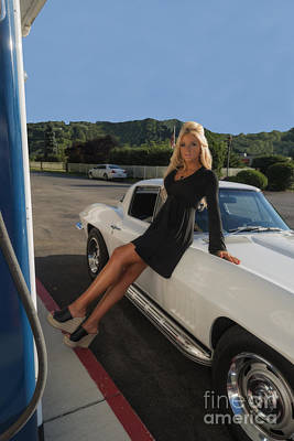 Photograph - Ally And The Corvette by Dan Friend
